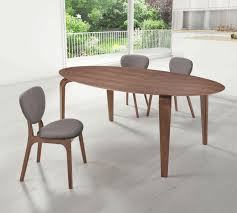 dark wood dining chairs. Dining Room: Oval Dark Wood Table_grey Chairs With Legs_plain White Wall Painting_white