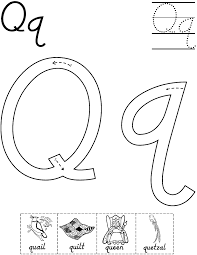 Small Picture Printable Letter Q Coloring Pages