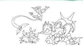 Small Picture Pokemon Coloring Pages X And Y Mega Evolution Coloring Pages