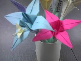 How To Make Origami Paper Flower Make A Vase Of Paper Flower Pens 6 Steps