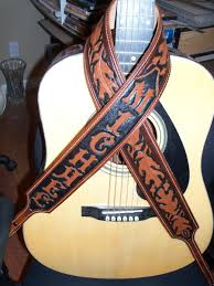custom made handmade leather guitar banjo straps
