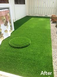 artificial grass for concrete terraces and patios thai garden design