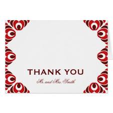 Dark Red Side Border Thank You Card Zazzle Com Wedding