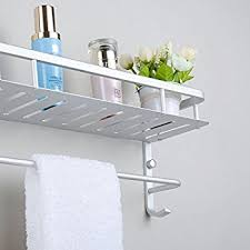 hiendure solid brass bathroom shelf comestic orgnization basket with throughout shelves towel bar remodel 2 towel bar shelf r50 towel