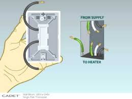 best 20 baseboard heater thermostat ideas on pinterest electric Wall Mounted 2wire Thermostat Wiring Diagram how to install a single pole wall mount thermostat to your cadet baseboard heater Honeywell Thermostat Wiring Diagram Wires