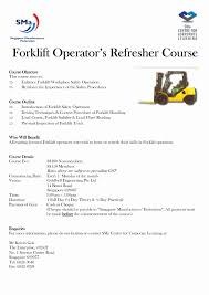 Forklift Operator Sample Resume Resume For Forklift Operator Cancercells 13