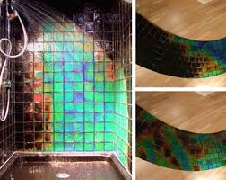 Color Changing Shower Tile - Shower Tile Changes Color Depending On The  Temperature of Water -