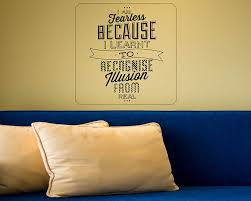 I Am Fearless Quotes Wall Decal Motivational Vinyl Art Stickers