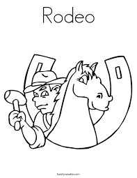Small Picture Rodeo Coloring Page Twisty Noodle