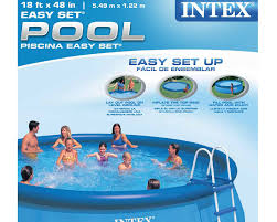 intex easy set pool. Intex 18 X 48 Easy Set Swimming Pool 1,000 Gph Pump And Accessories Included