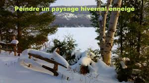 dessin et peinture vidéo 2629 peindre un paysage d hiver 3 acrylique ou le