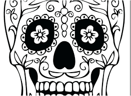 Day Of The Dead Girl Coloring Pages At Getcoloringscom Free