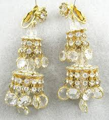 vintage rhinestone crystal chandelier earrings garden party collection vintage jewelry