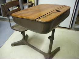 wooden school desk and chair. Old School Desk And Chair Vintage Wooden