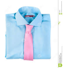 Blue Shirt With A Pink Tie Stock Photo Image 4898670