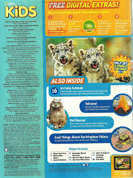 National Geographic for Kids September 2013 Table of Contents