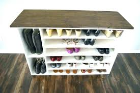 shoe shelves for closets wood shelf closet wooden build a rack your own storage small bathrooms