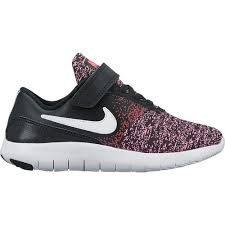 nike running shoes for girls black and white. nike girls\u0027 flex contact running shoes - view number for girls black and white n