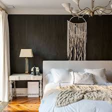 bedroom with black furniture. Bedroom With Black Wall And Modern White Light | PHOTO GALLERY Livingetc Bedroom Furniture