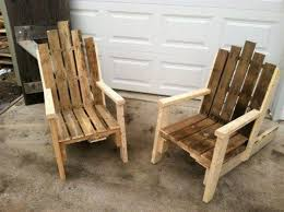 old pallet furniture. Pallet Made Chair Chairs Old Furniture
