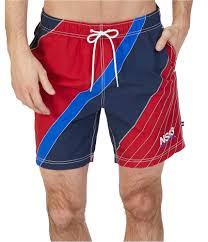 Nautica Swim Trunks Size Chart Details About Nautica Mens Colorblocked Swim Bottom Trunks