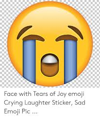 Face With Tears Of Joy Emoji Crying Laughter Sticker Sad