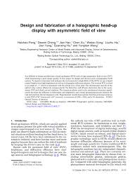Head Up Display Optical Design Pdf Design And Fabrication Of A Holographic Head Up Display