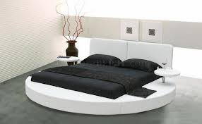 Cozy Choice As Wells As Or Black Learette Round Bed Wside Shelves As Wells  As Round