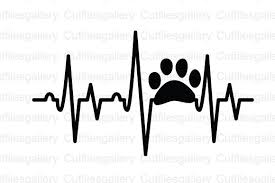 Beat, health, healthcare, heart, heartbeat svg vector icon. Paw Heartbeat Graphic By Cutfilesgallery Creative Fabrica