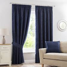 brown curtains for bedroom. Simple Brown Chenille Navy Lined Pencil Pleat Curtains And Brown For Bedroom