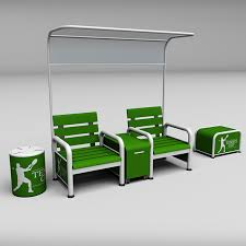 tennis court bench chair 3docean item for