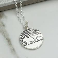 silver mother elephant and baby elephant necklace
