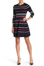 Vince Camuto Long Sleeve Stripe Ottoman Sweater Dress Petite Nordstrom Rack