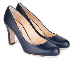 navy nappa leather pumps