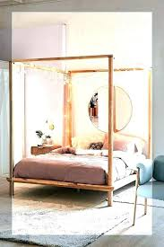 Canopy Bed Frame Full Wood Canopy Bed King Full Size Wood Canopy Bed ...