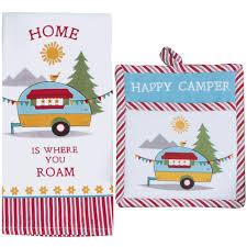 Dee Design Kitchens Amazon Com Kay Dee Design Happy Camper Kitchen Terry Towel