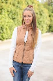 Quilted Riding Vest - Camel from Hazel and Olive | Epic Wishlist & Quilted Riding Vest - Camel Adamdwight.com