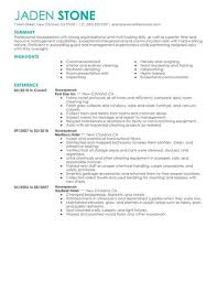 Houseman Resume Sample