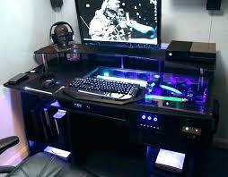 computer built into desk beutiful lrge computer built into desk for