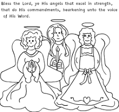 Angel Coloring Pages 1