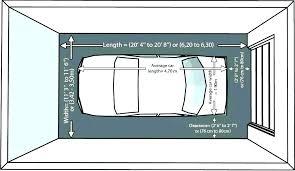 1 Car Garage Sizes Size Of A 2 Average Door Smallest