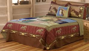 bedding horse quilt twin full queen or king with within comforter sets size design 12