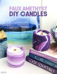 supplies to make your own diy amethyst candles