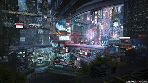 another future city xpost r wallpaper cyberpunk