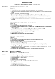 Warehouse Resume Shipping Warehouse Resume Samples Velvet Jobs 14