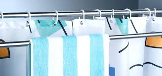 double tension shower rod how to use extra shower curtain rods to increase bathroom storage more