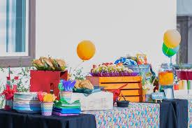 party table from a rainbow paint party on kara s party ideas karaspartyideas com 21