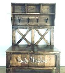 rustic standing coat rack wooden