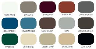 Union Metal Roofing Color Chart Colors Metal Roof Gueadi Info