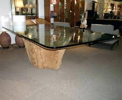 glass dining table base interior dining table with tree trunk base at tree trunk glass dining glass dining table base